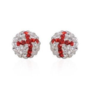 Jewelry - Red and White Austrian Crystal Earrings
